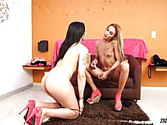 Here at Trans500 we love hot shemale on shemale action. Feast your eyes on Mariana Pink and ...