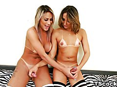 The busty TS temptresses trade sensuous blow jobs, then invade each other's tight asshole in...