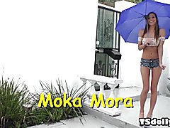 Chelsea reciprocates by burying her face in Moka's sweet ass, licking her juicy cunt and imp...