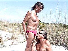 CUM watch Jamie suck horny T-Girl Michelle!