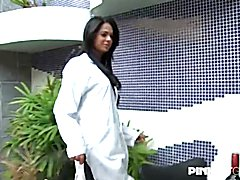 Kelly Costa has her own method to nurse about her patients... She takes their dicks in her m...