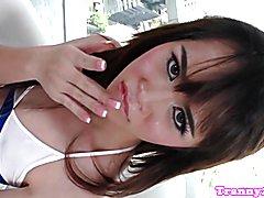 Asian tgirl beauty jerksoff cum after sixtynine cocksucking