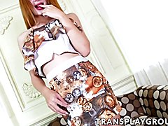 Busty asian tbabe sex doll Toey wanking it all alone for you in a hotel room. Watch how this...