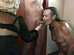 Jamie loves to suck on t-girl cock and make it hard in his mouth for you to watch and mastur...