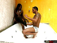 Kelly tickles horny stud with her sweet kisses and delicate body until he is ready for a sen...
