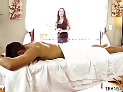 Masseuse Tori Mayes has her first client Gabriel Dalessandro she is nervous and feels like s...