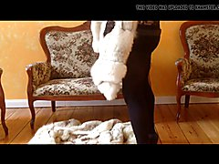 Sad but sexy TV in furs part 8