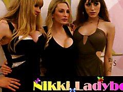 NikkiLadyboys TEA Show Red Carpet 2017 with t-girls superstars including Nikki Montero and J...