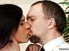 Stefani welcomes Kai's huge rod, and takes it down her throat as though her life depend...
