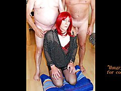 Sexy T-girl Alexandra is having sex fun with 2 guys. She's sucking them dry. Gallons of...