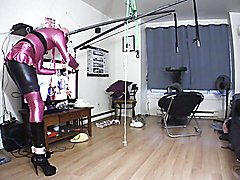 chastity, buttplug, gag and parachute funtime...
