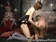 The high quality video brings you two skinny shemales with a lust for anal. They fuck each o...