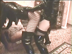 Amateur Fetish Trannies enjoy pvc, thighboots and cock sucking