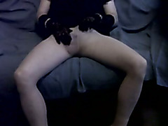 MichaelaCD takes a diversion from stockings and cums in pantyhose to satisfy a private request