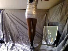 Most of all this seductive amateur slut likes to pose in front of her webcam. Today she is d...