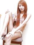 Redhead hottie plays solo