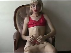 Skinny amateur tgirl photo shoot