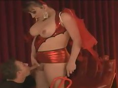 She's been working the stripper's pole and now she's working this dude. They get aroused and...