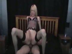 Amateur blonde tops his ass