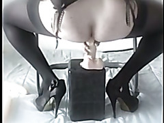 lola, french crossdresser. Dildos, lingerie & cum
