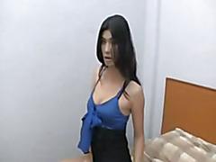 Sexy ladyboy in bedroom