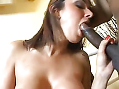 Shemale Bianca Freire goes Black Cock