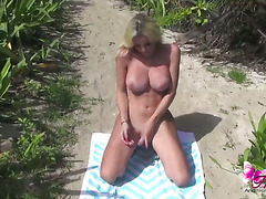 Ana Mancini getting naked for you in the jungle to lure you into her island bed!