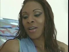 Tranny gets a big dick deep inside her tight ass and cumshot