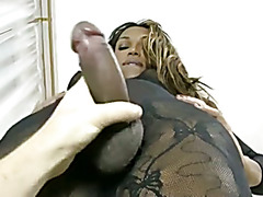 Black Shemale handjob