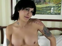 She's curvy and fun and cute and masturbates in her solo video with a cock in hand and the s...