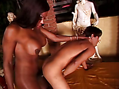 Tranny with huge dick fuck young man