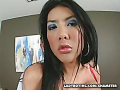 Big Tit Asian Ladyboy Bareback Slam Fucking