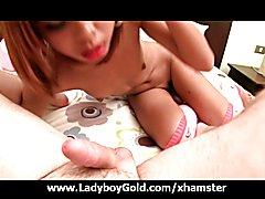 Ladyboy gold Sunny`s darling teen ass is fucked bareback and covered in hot cum! This incred...