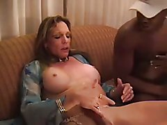 Busty Milf Suck`s BBC & Strokes Herself