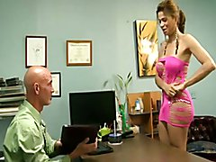 Latina Shemale Gets Dicked Down In Job Interview