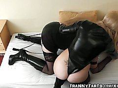 Femdom wife fucks crossdressing sissy