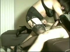 Sexy mature sissy loves cock