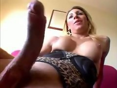 Sexy tranny with long cock