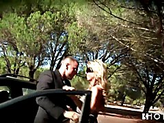 Hotgold Hot Blonde MILF Fucking the driver outdoors