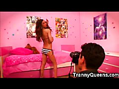 Tranny Teen Gagging!