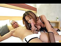 Asian ladyboy Noy gets analy fucked