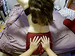 Wife giving the Husband enema and fetish play before anal sex with her strap on.  Part 1 out...
