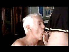 old man grandpa cum