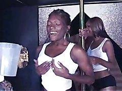 3 Black goddesses Gangbang one lucky guy