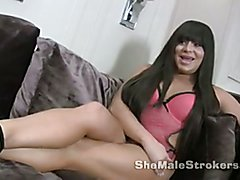 More Vivien at ShemaleStrokers.com