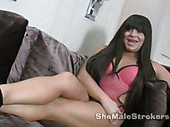 More Vivien at ShemaleStrokers.com