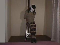 introduce a japanese crossdresser in bondage hope you like