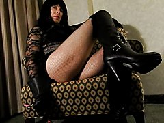 Worship my thigh high boots, smell the leather gloves, and feel the taste of the whip and fl...