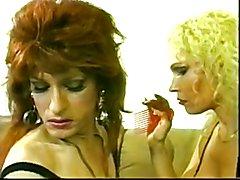 Wild mature & her Tgirl slave