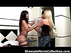 Shemales and Girls Team Up to Fuck Boys!  - video # 02